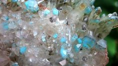 Large 2 lb 2.7 oz. Ajoite in Quartz Crystal Cluster. Back side crystals as well.
