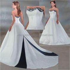 Navy Blue Wedding Dresses ... Wedding Dress Ideas on Pinterest | Blue Wedding Dresses, Satin and