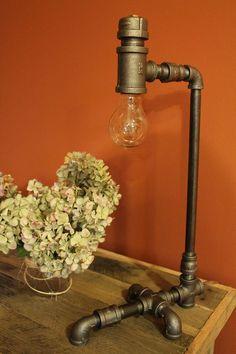 Handmade Industral Pipe Lamp. via Etsy.