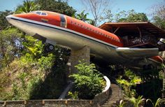 Hotel Costa Verde 727 Fuselage in Costa Rica. One of the Top Hotels to visit before you die. See more at jebiga.com
