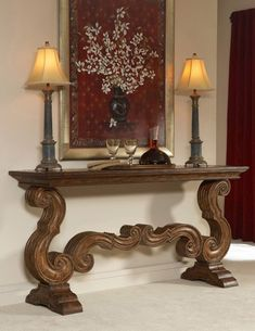 Ambella Home Tuscan Scrolled Console Table