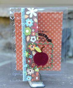 Clear Scraps acrylic embossed card by Tonya Dirk.