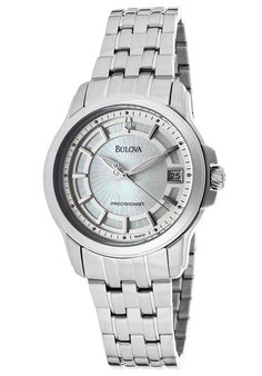 Bulova Women's Precisionist Stainless Steel Mother of Pearl Textured DialBulova 96M121 Watch