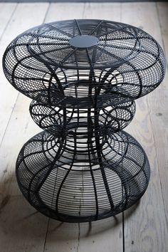 wire stool - I can't look at something like this without seeing it as warp waiting for a weft