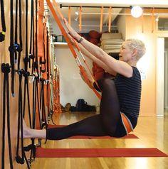parivrtta janu sirsasana  iyengar yoga rope seated poses