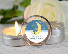 moon and stars personalized candle favors?