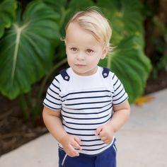 Stripped Cotton T-shirt | Dave Bella Kids Clothes