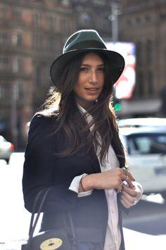 Menswear fedora hat #streetstyle
