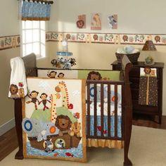 S.S. Noah 5 Piece Baby Crib Bedding Set by Lambs & Ivy | Giraffe Baby Bedding