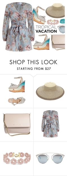 """""""Tropical Prints"""" by ana3blue ❤ liked on Polyvore featuring Charlotte Olympia, Givenchy, Zimmermann, BaubleBar, Christian Dior and Miss Selfridge"""