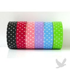 Polka Dot Tape - Decorative Polka Dot Washi Tape - Available in 3 Colors!