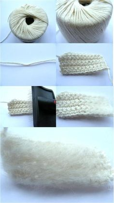 brushed crochet... gives your amigurumi an extra fuzzy look