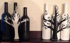 Wine Bottles I painted #winebottles