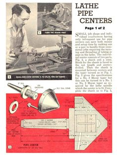 lathe pipe centers