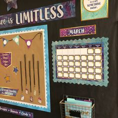 Stay on schedule and help students remember important days with a calendar bulletin board. Space Theme Classroom, Elementary Classroom Themes, Stars Classroom, 4th Grade Classroom, Classroom Environment, Preschool Classroom, Future Classroom, Classroom Organization, Classroom Decor