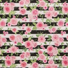 Pink Fabric, Floral Fabric, Fabric Flowers, Pink Flowers, Cotton Fabric, Cactus Fabric, Floral Stripe, Custom Aprons, Personalized Aprons