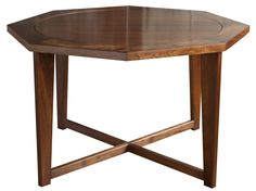 Buy Hendricks Dining or Poker Table by Richard Wrightman Design, Ltd. - Made-to-Order designer Furniture from Dering Hall's collection of Traditional Mid-Century / Modern Contemporary Game Tables.