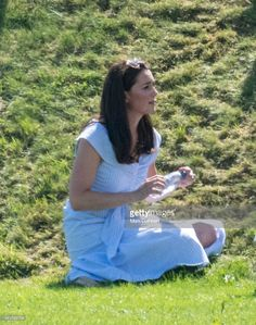 GLOUCESTER, ENGLAND - JUNE 10:  Catherine, Duchess of Cambridge during the Maserati Royal Charity Polo Trophy at Beaufort Park on June 10, 2018 in Gloucester, England. (Photo by Mark Cuthbert/UK Press via Getty Images)