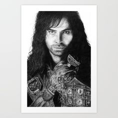 Kili from the Hobbit by J.R.R. Tolkien. Drawn by me.