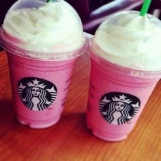 Not coffee but Starbucks Cotton Candy Frappuccino.Vanilla frappuccino with raspberry syrup 3 pumps for venti. Cotton Candy Frappuccino, Vanilla Frappuccino, Starbucks Frappuccino, Pink Starbucks, Starbucks Vanilla, Starbucks Flavors, Starbucks Order, Starbucks Hacks, Starbucks Refreshers