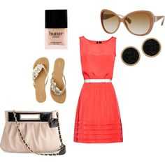 Coral Outfit, created by amanda-maciejewski on Polyvore