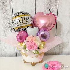 Balloon Arrangements, Balloon Centerpieces, Balloon Decorations, Balloon Ideas, Mothers Day Balloons, Balloons And More, Bubble Balloons, Balloon Gift, Baby Shower Backdrop