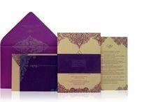 purple gold wedding invitations royal