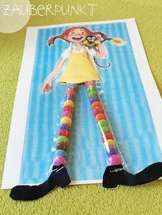 Pippi Langstrumpfs bunte Socken { DIY - auch für Kinder - mit Schokolinsen }