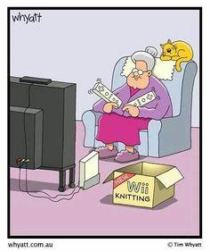 Virtual knitting...hmmmm...