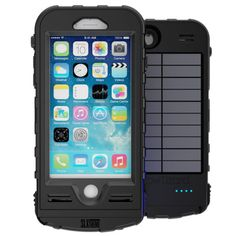 Snow Lizard SLXTREME7 Solar Charge, Waterproof Battery Case for iPhone 7 - Black #ad