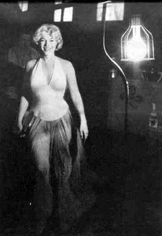 a rare photo of Marilyn on the set of Lets Make Love