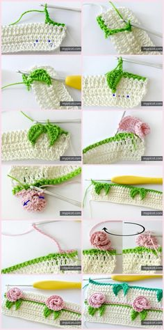 55 Ideas for baby crochet hats christmas Loom Knitting Patterns, Crochet Borders, Crochet Flower Patterns, Crochet Motif, Crochet Doilies, Crochet Flowers, Crochet Stitches, Crochet Baby Hats, Baby Blanket Crochet