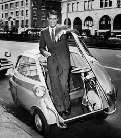BMW Isetta bubble car. Oh and Cary Grant.