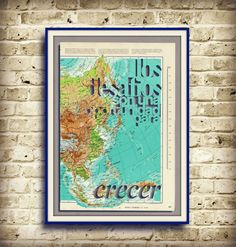 LOS DESAFIOS son una oportunidad para crecer - Spanish quote - handmade artwork - Positive Mind