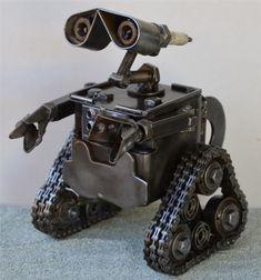 Wall-E Sculpture, Scrap Metal Art
