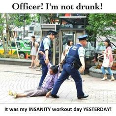 It was my INSANITY workout...omg. This is really how you feel too!