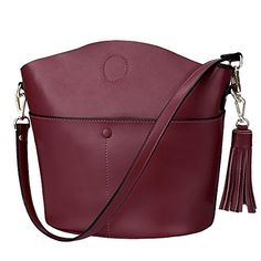 S-ZONE Women s Cowhide Genuine Leather Small Purse Handbag Crossbody  Shoulder Bag Upgraded Version ( 65874df4e5