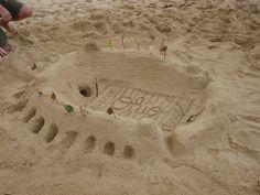 Ohio Stadium in the sand