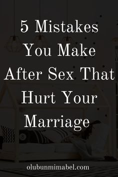 You just had an intimate session with your spouse.  It was great. Or not. However it was, the end of a thing is as important as the beginning and the process.  Below are 5 things you're probably doing wrong after being intimate with your spouse:.. #marriage #happymarriage #marriageadvice #marriagetips Happy Marriage Tips, Marriage Humor, Marriage Advice, Wise Quotes, 5 Things, Mistakes, Compliments, It Hurts, My Life