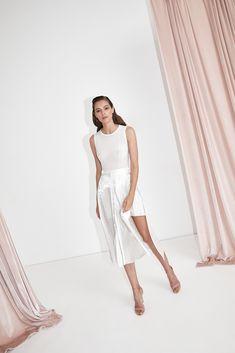 White Bodysuit. White Skirt. All white