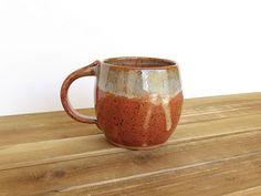 Pottery Mug in Shino and Sea Mist Glaze Ceramic by dorothydomingo