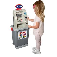 My Toy ATM Machine, Math, Number Games-Leaps and Bounds Kids - Are you kidding me? Little Girl Toys, Toys For Girls, Kids Toys, Kids Grocery Store, Disney Princess Toys, Baby Alive Dolls, Baby Doll Accessories, Kids Makeup, Barbie Doll House