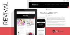 Revival - Clean Magazine / Blog Theme . This theme will fit your large desktop screen, all way down to your smartphone – and of course any Tablet or iPad in between. Theme is optimised for your touchable and mobile
