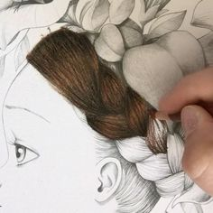 """133 Likes, 10 Comments - Adult Colouring / Coloring  (@colourwithclaire) on Instagram: """"Colouring realistic hair with Prismacolor pencils in the book Coloriage Wild by Emmanuelle Colin…"""""""