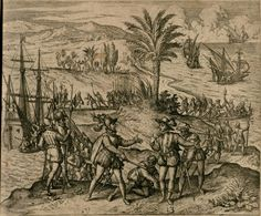 University of Houston Digital Library: Theodor de Bry's America: Columbus is taken prisoner with his brother Bartholomeo and sent to Spain University Of Houston, Exploration, Prisoner, Awakening, Renaissance, Westerns, Spain, America, Digital