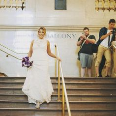 Blushing Bride. #onherweddingday #blushingbride #thefirstlook #grandcentral #grandcentralterminal #nycweddings #ollistudio #nycweddingphotography #awardwinning #photojournalistic #weddingdress #bridalgown