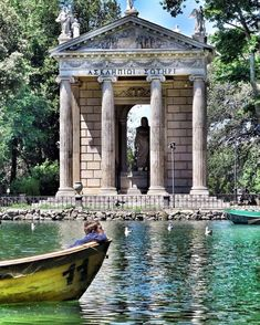🔖Temple of Asclepius (Villa Borghese) Rome, ⠀ The Temple of Asclepius inside the Villa Borghese gardens, in Rome, was built… Rome Buildings, Ancient Buildings, Greece Architecture, Ancient Architecture, Ancient Rome, Ancient Greece, Great Places, Places To Go, Roman History
