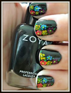 Southern Sister Polish: Nail Art Wednesday..........Neon Flowers