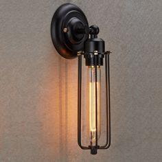 Wandleuchte im Industrial Stil mit Leuchtmittel. von picunique auf DaWanda.com