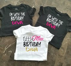 Birthday Party Shirts Girls Little Group Diva Shirt